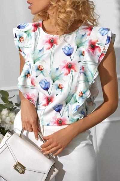 Bluzka LEA flowers motylek