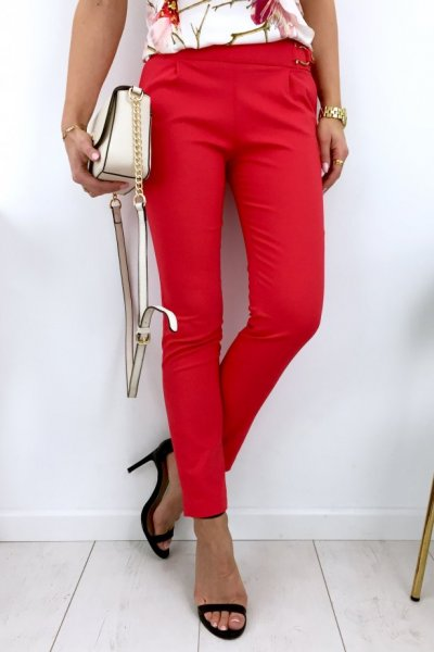 Spodnie cygaretki BEBE - red