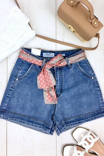 Szorty/spodenki jeans GALLA - blue