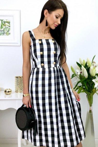 Sukienka LILLU - kratka black/white