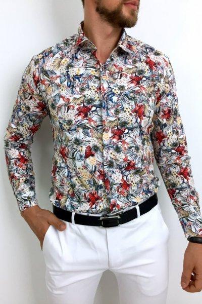 Koszula męska w kwiaty Flower Power 8