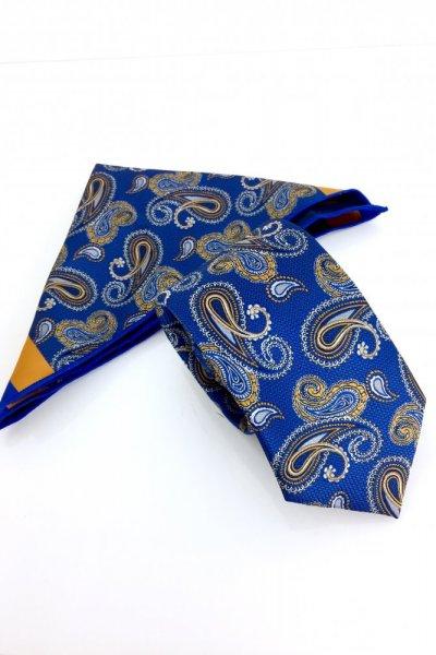 Krawat męski + poszetka Ornament 2