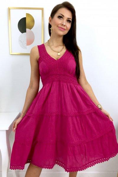 Sukienka ROMA - fuksja