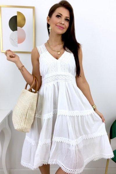 Sukienka ROMA - biała