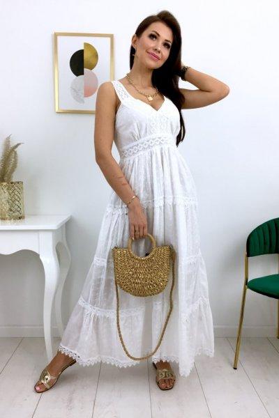Sukienka ROMA maxi - biała