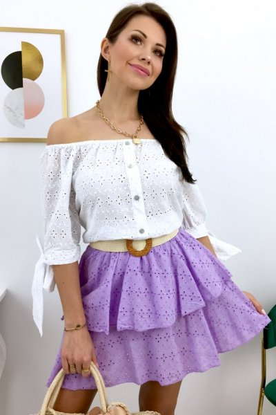 Spódnica ażurowa COMPLETO - lila