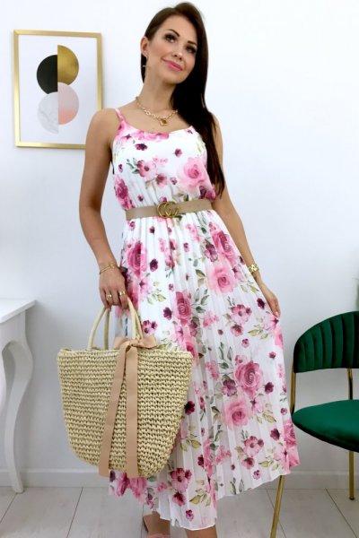 Sukienka GOYA - white/pink