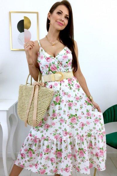 Sukienka na ramiączka Rose