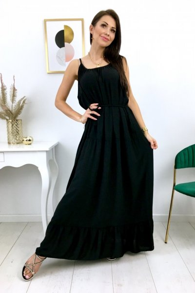 Sukienka PARMA maxi - czarna