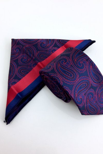 Krawat męski + poszetka