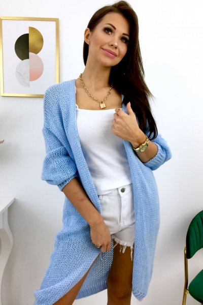 Kardigan/sweter LONGI - blue