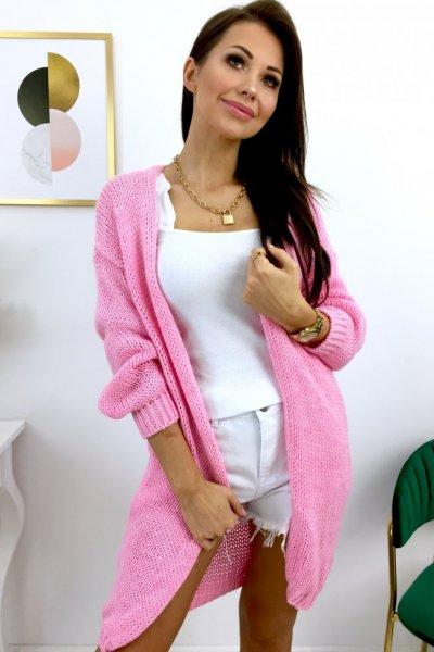 Kardigan/sweter LONGI - pink
