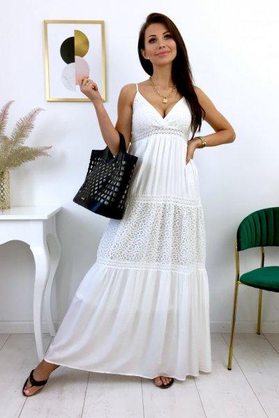 Sukienka MAXI SAMARA - ecru