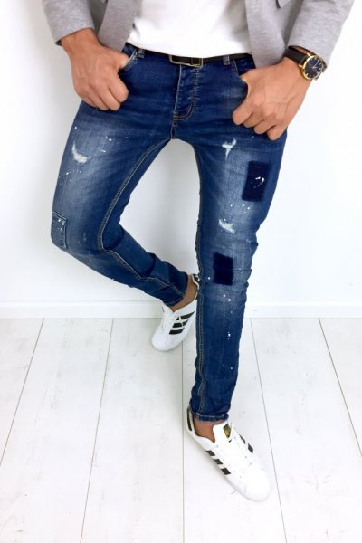 Spodnie męskie jeans BB1059 SLIM FIT