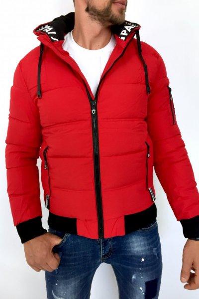 Kurtka męska zimowa 66863 czerwona