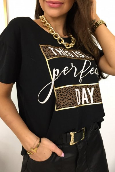 T - shirt PERFECT DAY - black