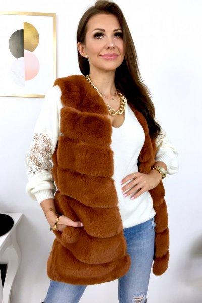 Kamizelka futrzana PREMIUM - camel