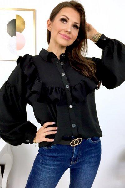 Bluzka STL żabot - black