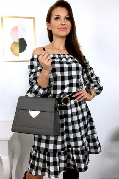 Sukienka hiszpanka KORA - black/white