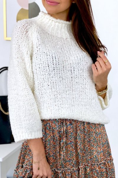 Sweter SPLITT - ecru
