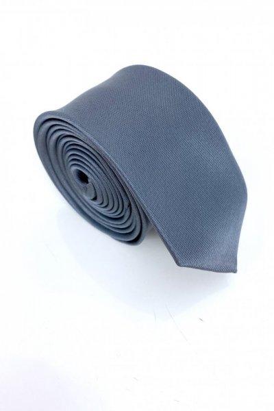 Krawat męski szary typu slim