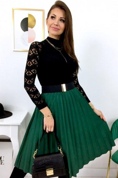 Spódnica DOROTTY a la zamszowa - green