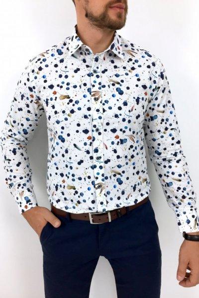Koszula męska w kropki H08