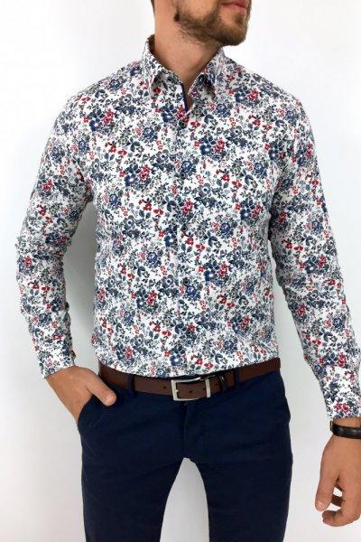 Koszula męska w kwiaty Flowers 33 White