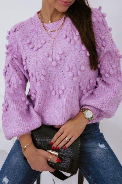 Sweter POPPI 2 lux - pink