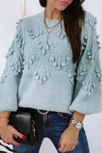 Sweter POPPI 2 lux - blue