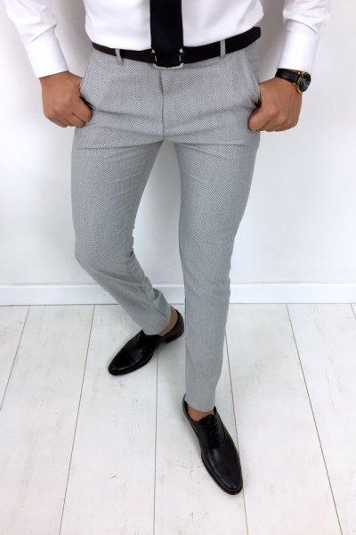 Spodnie męskie szare H7