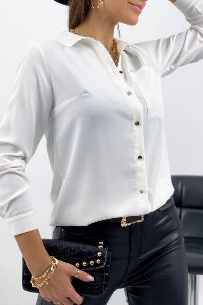 Koszula clasic PURRA - ecru
