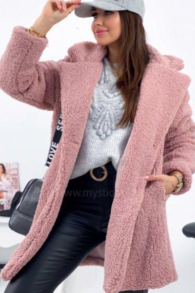 Futerko/płaszcz damski FIONA - pink
