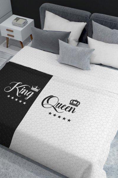 Narzuta Queen&King 170x210 biało czarna