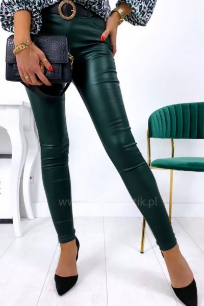 Spodnie woskowane - green