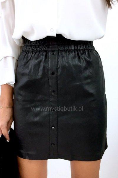 Spódnica na gumce woskowana - black