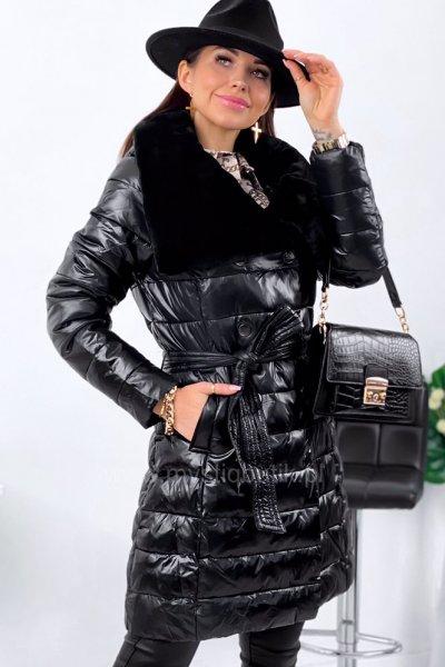 Kurtka/płaszcz z kołnierzem - black