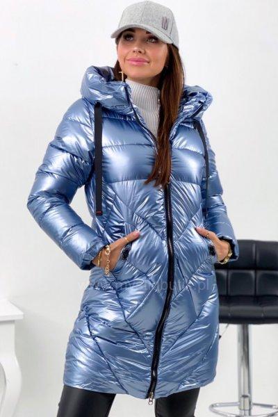 Kurtka zimowa COSMO long - blue