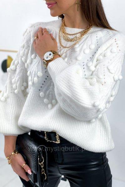 Sweter POPPI 2 lux - white