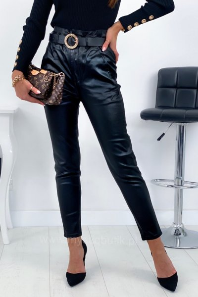 Spodnie WOSK pump wysoki stan - black