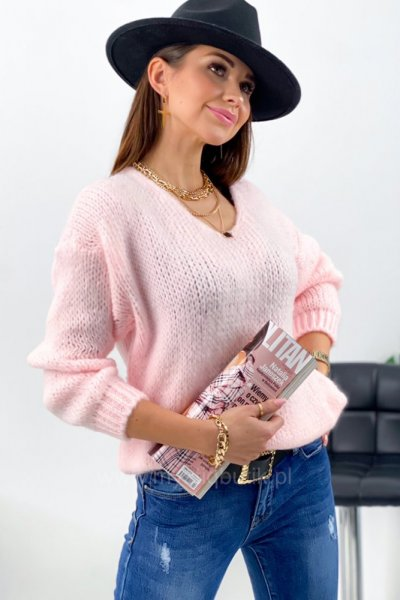 Sweter MOLLY - różowy