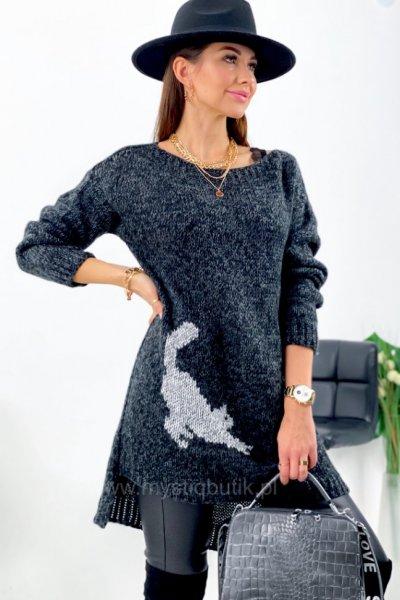 Sukienka/sweter CAT - grafit