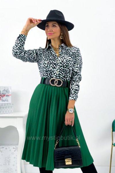 Spódnica DOROTTY z paskiem midi - zielona
