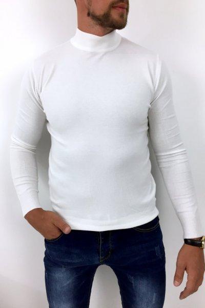 Półgolf męski biały YY05-2