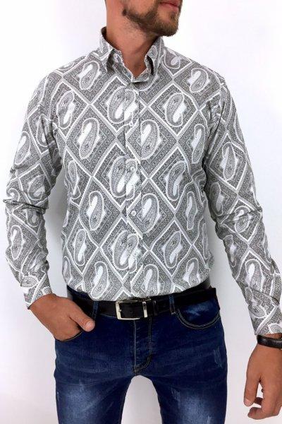 Koszula męska Ornamen5 szara