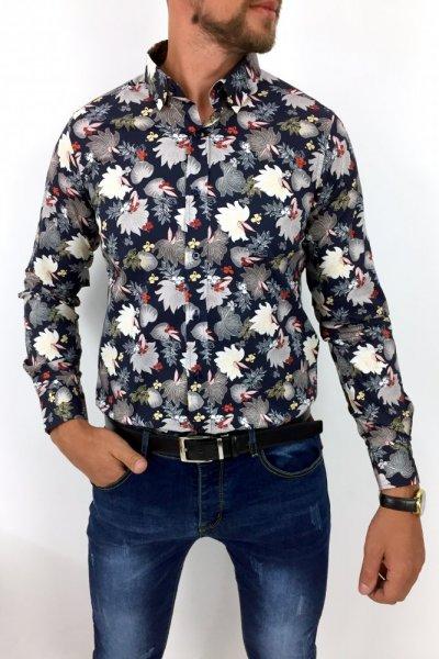 Koszula męska w Kwiaty FP11