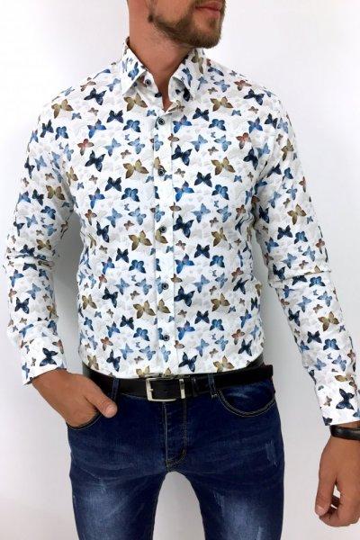 Koszula męska w motyle