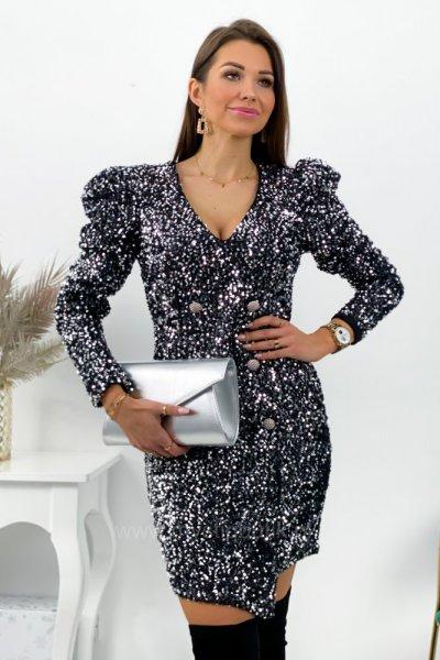 Sukienka w stylu BALM - silver