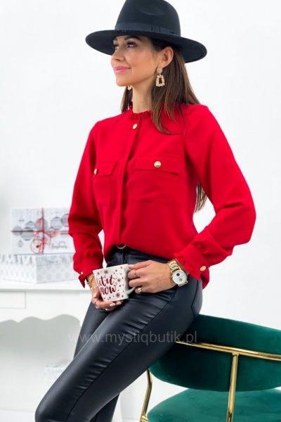 Bluzka NOVA gold button - czerwona