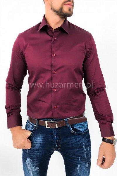 Koszula męska bordo slim fit